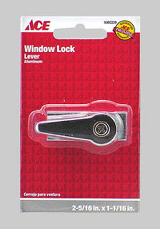 Ace Door and Window Lock 2-5/16 in. x 1-1/16 in. Aluminum For All Sliding Doors and Windows