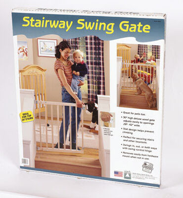 North States White Wood Child Safety Gate 1 pk 28-42 in. W