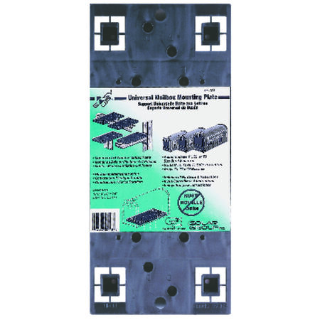 Solar Group Gibraltar Plastic Mailbox Mounting Board 13-1/16 in. L x 6 in. W x 7/8 in. H