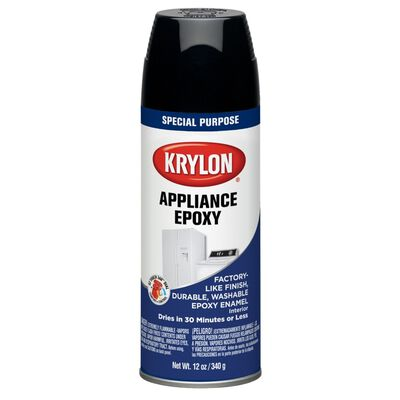 Krylon Black Gloss Appliance Epoxy Spray Paint 12 oz.