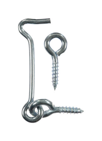 Ace 3/16 0.8175 in. L Zinc Plated Steel Hook and Eyes 1 pk