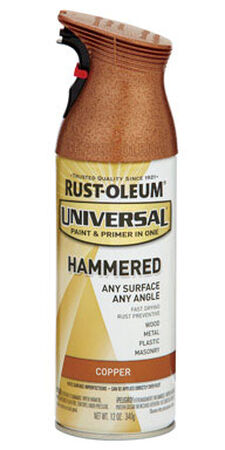 Rust-Oleum Universal Paint & Primer in One Copper Hammered Hammered Spray 12 oz.