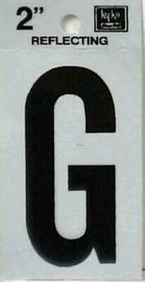 Hy-Ko Self-Adhesive Black Reflective Vinyl Letter G 2 in.