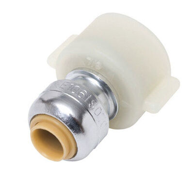 SharkBite 1/4 in. x 3/8 in. Stop Valve Connector Chrome Plated
