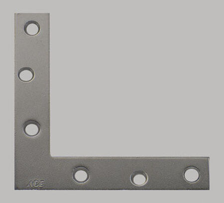 Ace Flat Corner Brace 5 in. x 7/8 in. Zinc