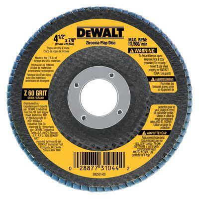 "4-1/2"" x 7/8"" 60 Grit Zirconia T29 Flap Disc"