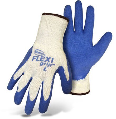 Glove String Knit L Blue Latex