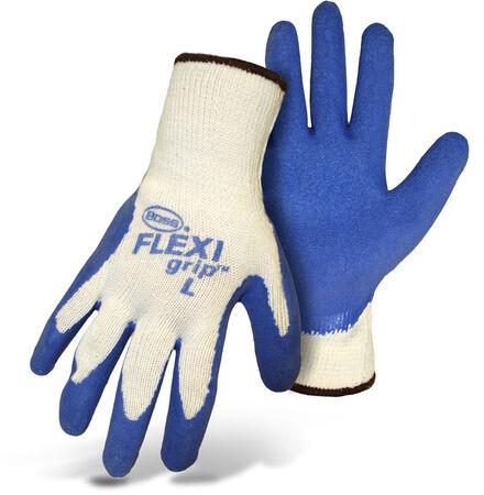 Glove String Knit M Blue Latex
