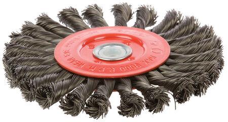 Forney 6 in. Dia. Coarse Twist Knot 1/2 in. Wire Wheel Brush 9000 rpm