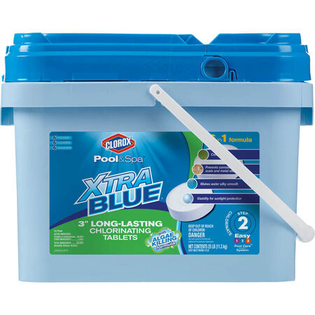 Clorox Pool&Spa XtraBlue 25-lb Bucket 3-in Pool Chlorine Tabs