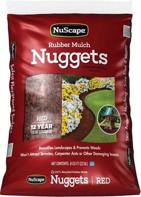 Rubber Mulch Nuggets Redwood 0 8 Cu Ft Stine Home