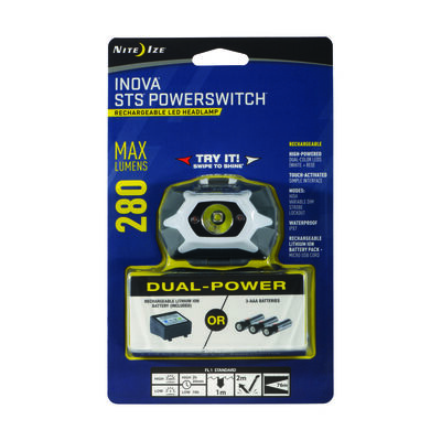 Nite Ize Inova 280 lumens STS PowerSwitch Headlamp LED Lithium Polymer Black