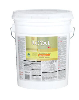 Ace Royal Acrylic Latex House & Trim Paint & Primer Semi-Gloss 5 gal.