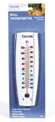 Taylor 7-5/8 in. Tube Thermometer White Indoor and Outdoor