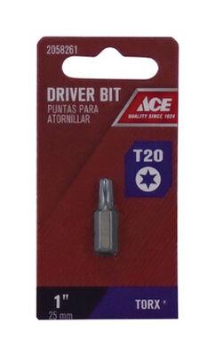 Ace T20 Torx Screwdriver Bit 1/4 in. Dia. x 1 in. L 1 pc.