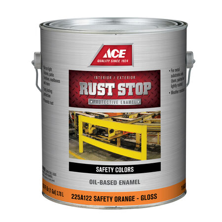 Ace Rust Stop Indoor and Outdoor Gloss Safety Orange Rust Prevention Paint 1 gal.