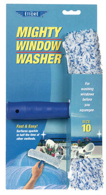 Ettore Mighty Window Washer 10 in. W Plastic Window Squeegee