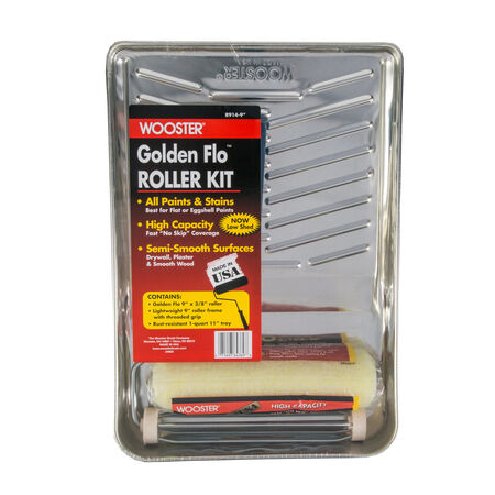 Wooster Golden Flo 9 in. W Cage Paint Roller Kit Threaded End
