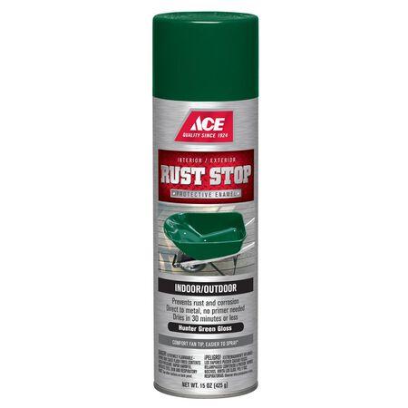 Ace Rust Stop Hunter Green Gloss Spray Paint 15 oz.
