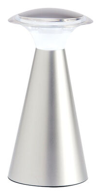 Fulcrum 7-7/8 in. H Gray Lanterna Touch Wireless Light