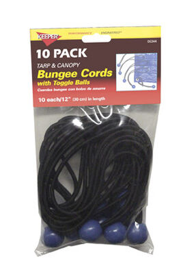 Keeper Corporation Keeper Bungee Cord Set 12 in. 0 lb. 10 pk
