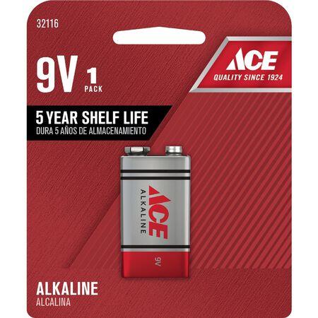 Ace 9V Alkaline Batteries 9 volts 1 pk