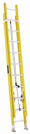 20 ft Louisville FE1720 Fiberglass Extension Ladder, Type I, 250 lb Load Capacity
