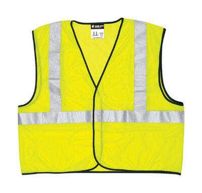 Safety Works Safety Vest Polyester Bright Lime Large