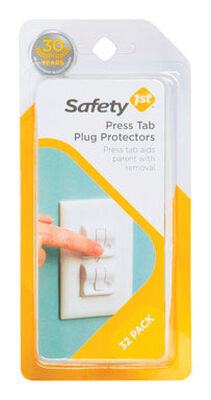 Safety 1st White Plastic Outlet Protector 32 pk