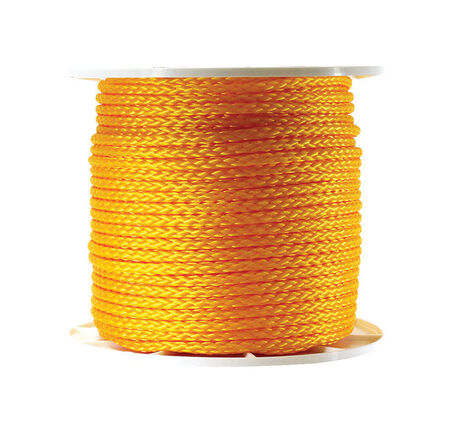Wellington 3/8 in. Dia. x 500 ft. L Diamond Braided Poly Rope Yellow