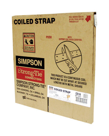Simpson Strong-Tie Galvanized Steel Coiled Strap 1-1/4 in. W 16 Ga.
