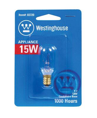 Westinghouse Appliance Light Bulb 15 watts 108 lumens