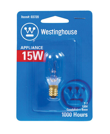 Westinghouse Appliance Light Bulb 15 watts 108 lumens