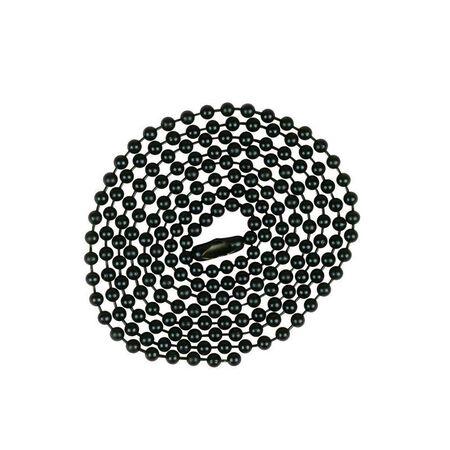 Jandorf Beaded Chain Black 3 ft. L 1 pk