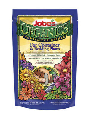 Jobe's Organics Fertilizer Spikes For Container and Bedding Plants 50 pk