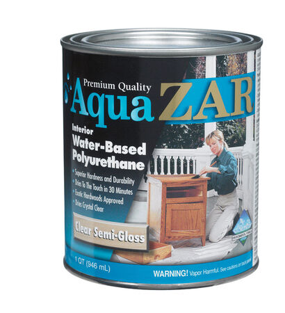 Aqua ZAR Indoor Clear Semi-Gloss Water Based Polyurethane 1 qt.