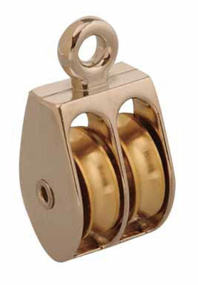 Campbell Chain Double Sheave Rigid Eye Pulley 3/4 in. Rigid 40 lb. Copper