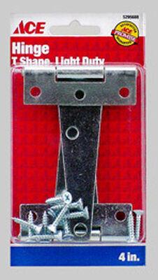 Ace Steel Light Duty T Hinge 4 in. L Zinc 2 pk
