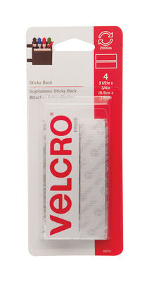 Velcro 3-1/2 in. L x 3/4 in. W Hook and Loop Fastener 4 pk