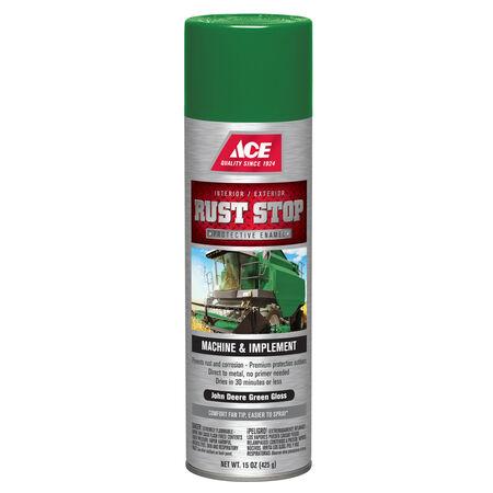 Ace Rust Stop Gloss John Deere Green Protective Enamel Spray 15 oz.