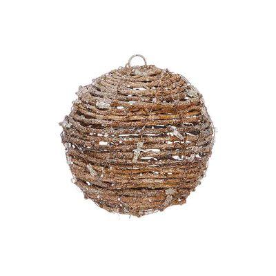 "7"" Snowy Vine Ball Ornament"