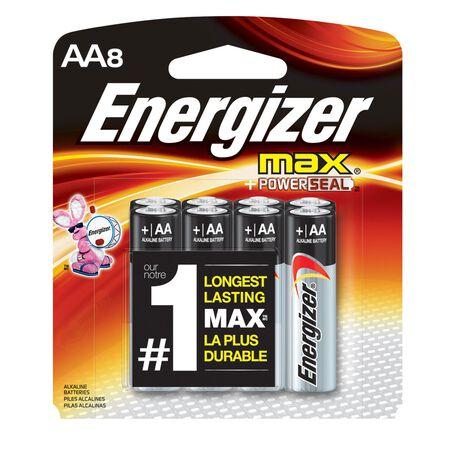 Energizer Max AA Alkaline Batteries 1.5 volts 8 pk