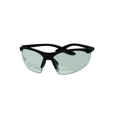 Sierra Ranch Multi-purpose Bi-Focal Safety Readers Clear Lens Black Frame Bulk