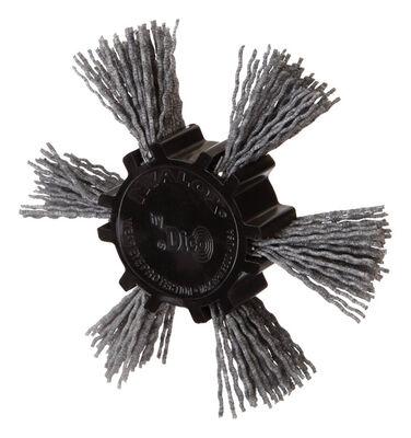 Dico 4 in. Dia. Aluminum Oxide Nylon Flap Brush 80 Grit