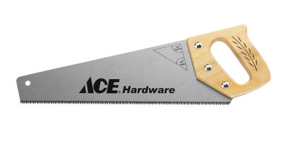 Ace Hand Saw 15 in. L Wood Handle