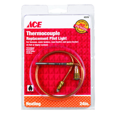 Ace Universal Thermocouple 24 volts 24 in. Copper