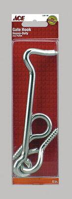 Ace Heavy Duty Gate Hook and Eye 5/16 in. Clamshell Zinc