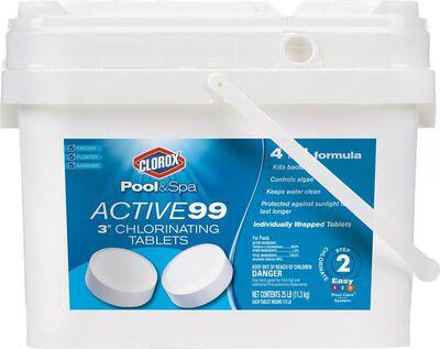 """Clorox Active99 3""""Chlorinating 25lb"""