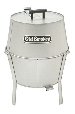 Old Smokey 14 inch Charcoal 21.5 in. H Grill White