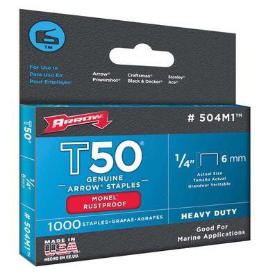 Arrow T50 Wide Heavy Duty Staples Gray 1/4 in. L